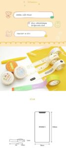 Useful Tags and Labels Washi Tapes with Chat Bubble and Quotes, Set of 4