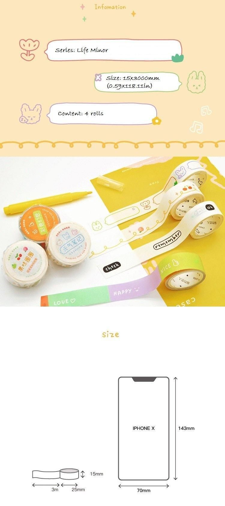 You are currently viewing Useful Tags and Labels Washi Tapes with Chat Bubble and Quotes, Set of 4