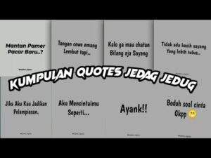 Read more about the article kumpulan video quotes jedag jedug kapten legacy