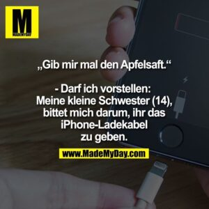 """Read more about the article """"Gib mir mal den Apfelsaft."""""""