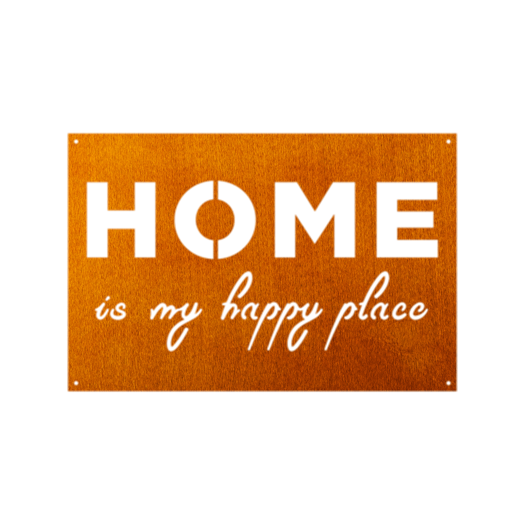 You are currently viewing Home Is My Happy Place Metal Sign Home Decor – Copper / 10