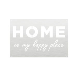 Read more about the article Home Is My Happy Place Metal Sign Home Decor – White / 24