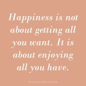 Read more about the article 365 Happiness Project 2019 – Quote 61 – Boho Wedding Blog