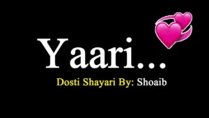 Read more about the article Beautiful Dosti Shayari ❤️ ❤️👫👬 Friendship Poetry by Shoaib