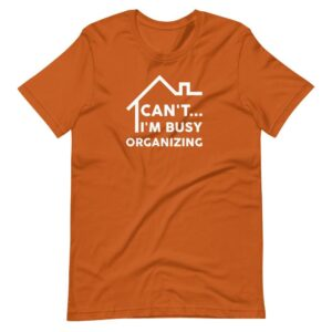Read more about the article CAN'T I'M BUSY T-SHIRT – Autumn / XL