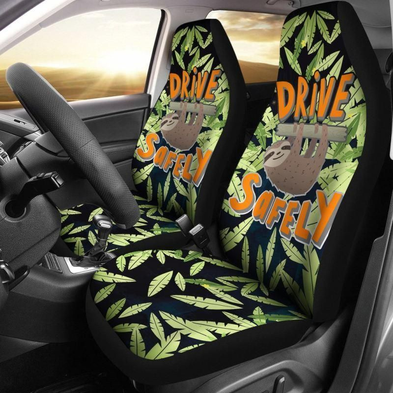 You are currently viewing DRIVE SAFELY SLOTH FUNNY QUOTE CAR SEAT COVERS – HM1 – Car Seat Covers  – SLOTH FUNNY QUOTE / Universal Fit