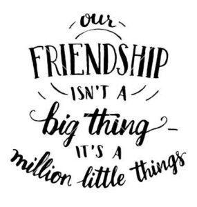 Read more about the article Friendship hand-lettering and calligraphy quote vector image on VectorStock