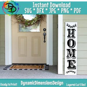 Read more about the article Porch Sign svg, Welcome to Our Home SVG, Porch Saying, Tall Rustic Cut File, Farmhouse Design, Vertical Wood Sign Quote Cricut svg