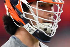 Read more about the article Several @CuseMLAX players demonstrated support for @Join1Love while suspended te