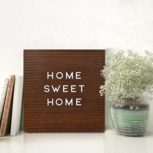 Read more about the article Square 12-inch by 12-inch Distressed Brown Letter Board
