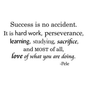 Read more about the article Success Is No Accident Wall Quotes Vinyl Decal Pele Quote   Etsy