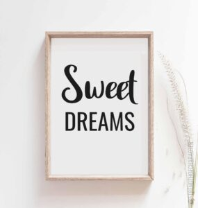 Read more about the article Sweet dreams print – Sweet dreams poster – 24×36 / Yellow