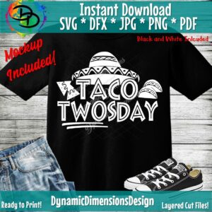 Read more about the article Taco svg, Taco Twosday SVG, 2nd Birthday Cut File, Fiesta Design, I'm Dos, Two Years Old Saying, Mexican Party Quote, Silhouette & Cricut