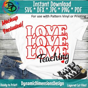 Read more about the article Teacher SVG, Valentine's Day Cut File, Teacher Love Saying, School Quote, Cute Love Design, png Silhouette svg, Cricut svg