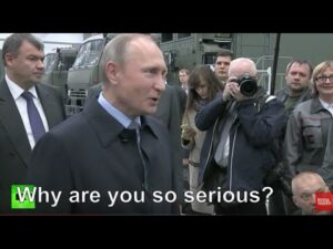 Read more about the article VIRAL: Putin jokes with overly 'serious' Kalashnikov employees