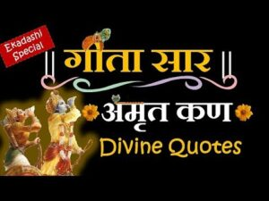 Read more about the article #245 Geeta Saar Amrut Kan in hindi By Shri Krishna   divine Quotes   Ekadashi Special