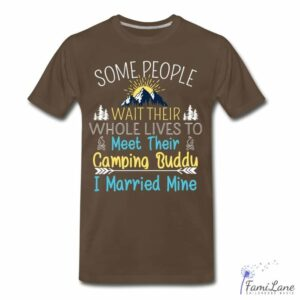 Read more about the article Camping buddy life T-Shirt Adults – Mens / noble brown / 3XL