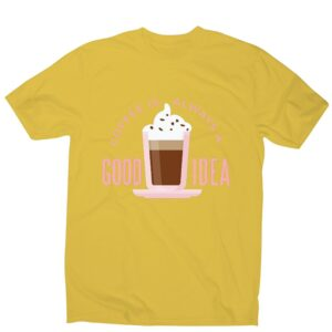 Read more about the article Coffee good idea – men's funny premium t-shirt – Yellow / M