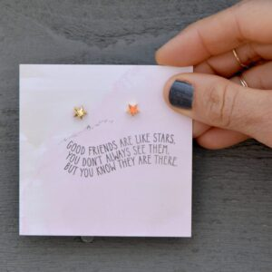 Read more about the article Earrings – Quote Card – Good Friends…