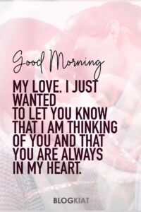 Read more about the article Good Morning Messages and Sweet Words of Love for Girlfriend