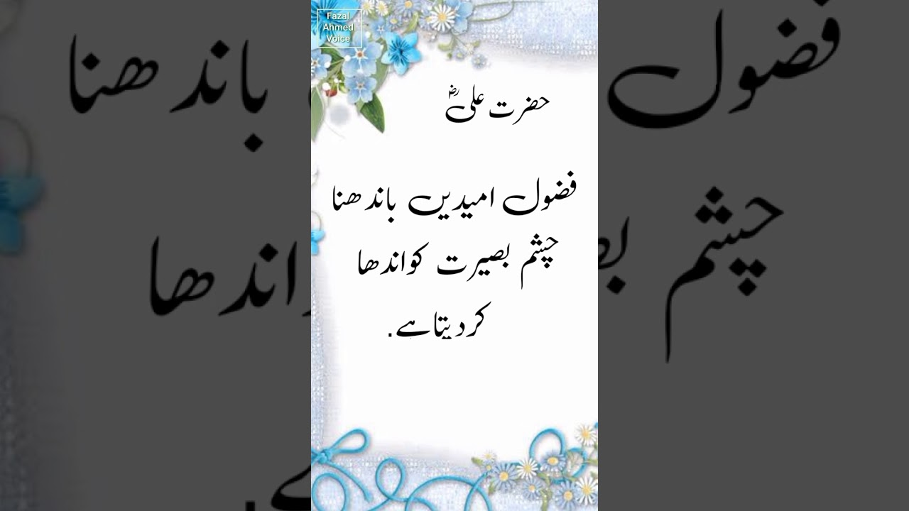 You are currently viewing Hazrat Ali Ra Quotes About Life – Urdu Hindi Quotes  #Shorts