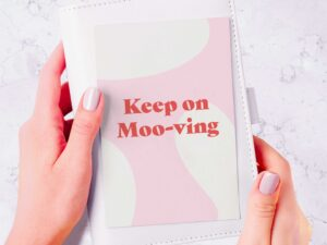 Read more about the article Keep On Moving Postcard Mini Print – Affirmation and Self-Love Collection