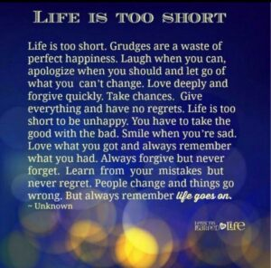Read more about the article Life is too short
