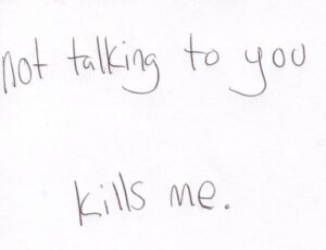 Read more about the article Not talking to you kills me