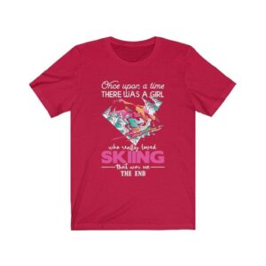 Read more about the article Once Upon A Time There Was A Girl Who Really Loved Skiing T-Shirt – Red / XS