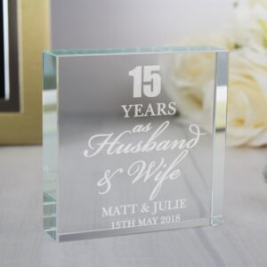 Read more about the article Personalised Anniversary Large Crystal Token