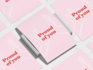 Read more about the article Proud of You A3, A4 High Five Print – Affirmation and Self-Love Collection – Unframed (A3)