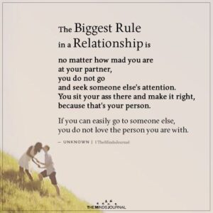 Read more about the article The biggest rule in a relationship is no matter how mad you are