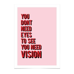 Read more about the article Vision Decision – A4 / Red on Pink