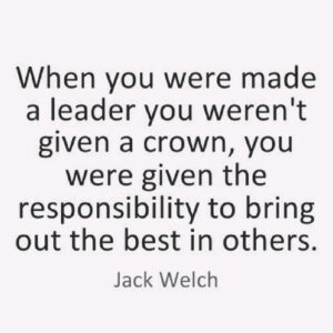 """Read more about the article """"When you were made a leader you weren't given a crown,you were given the respon"""