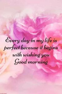 Good Morning Friends! EVERY DAY IN MY LIFE IS PERFECT BECAUSE IT BEGINS  WITH WI