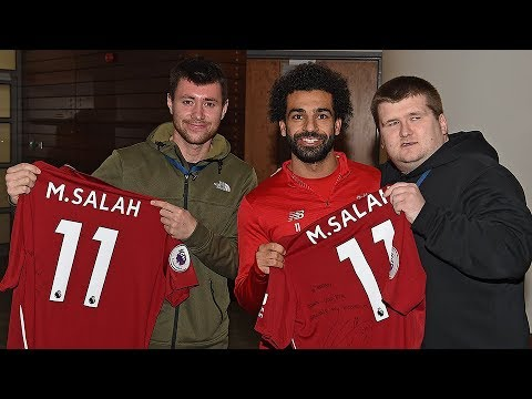 You are currently viewing Mo Salah invites viral star Mike Kearney to Melwood   'Your support is an inspiration'