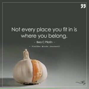Read more about the article Not every place you fit in is where you belong