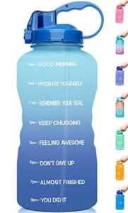 Read more about the article Venture Pal Large 1 Gallon/128 OZ (When Full) Motivational BPA Free Leakproof Water Bottle with Straw & Time Marker Perfect for Fitness Gym Camping Outdoor Sports – R3-Green/Pink Gradient