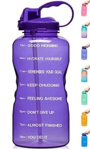 Read more about the article Venture Pal Large 1 Gallon/128 OZ (When Full) Motivational BPA Free Leakproof Water Bottle with Straw & Time Marker Perfect for Fitness Gym Camping Outdoor Sports – P5-Purple