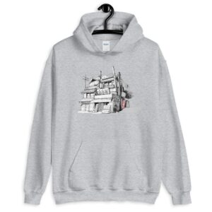 Read more about the article Bookshop 古本屋 (Unisex Hoodie) – Sport Grey / S