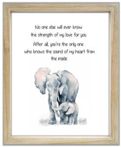 Read more about the article Elephant and Baby Elephant. No One Else Will Ever Know The Strength of My Love For You. Mother and Child Elephant Quote. Nursery Elephant