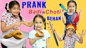 Read more about the article Funny PRANKS and TRICKS – Badi vs Choti Behan   MyMissAnand