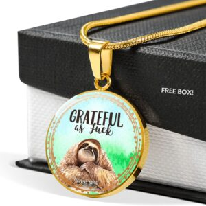 Read more about the article Grateful AF Sloth Necklace – 18K Gold over Stainless Steel / No