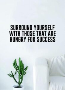 Read more about the article Hungry for Success Quote Wall Decal Sticker Room Bedroom Art Vinyl Inspirational Decor Motivational Inspirational Gym Fitness
