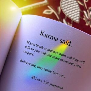 Read more about the article Karma Said…