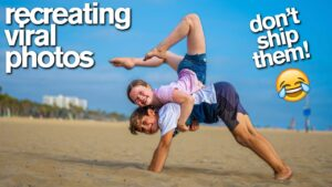 Read more about the article RECREATING VIRAL COUPLE'S PHOTOS Acrobat vs Gymnast