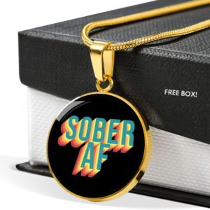 Read more about the article Sober AF Necklace – 18K Gold over Stainless Steel / No