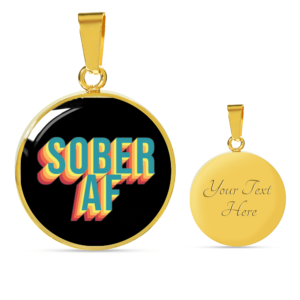 Read more about the article Sober AF Necklace – 18K Gold over Stainless Steel / Yes