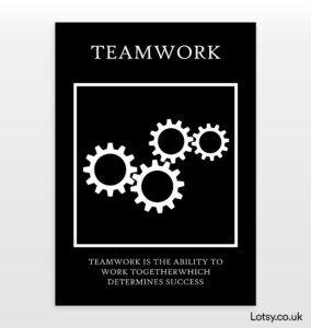 Read more about the article Teamwork – Quote Print – A0 – (841mm x 1189mm) (33.1inch x 46.8inch)