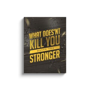 Read more about the article What Doesn't Kill You Makes You Stronger – Canvas / 18×24 inch